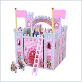 Teamson Kids Hand Carry Castle with Figurines in Pink