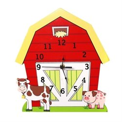 Fantasy Fields Hand Painted Happy Farm Wall Clock