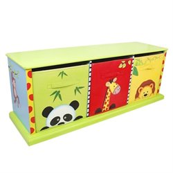Fantasy Fields Hand Painted Sunny Safari 3 Drawer Cubby