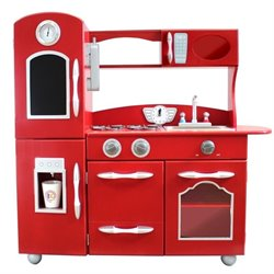 Teamson Kids 1 Piece Play Kitchen in Red