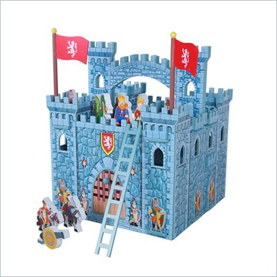 Teamson Kids Hand Carry Castle with Figurines in Blue