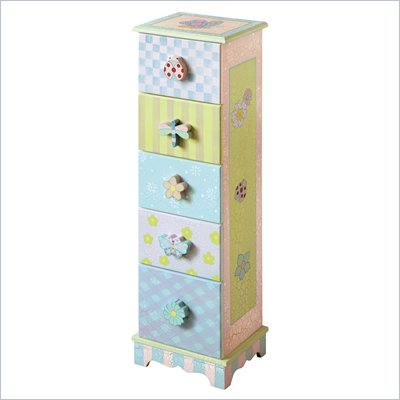 Teamson Kids Crackled Finish 5-Drawer Cabinet