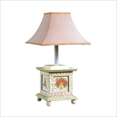 Teamson Design Hand Painted Girl's Desk Lamp in Crackle Finish