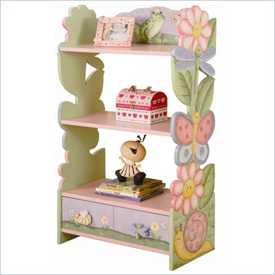 Teamson Kids Magic Garden Hand Painted Kids Book Shelf