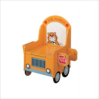 Teamson Kids Wings &amp; Wheels Hand Painted School Bus Kids Potty Chair