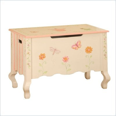 Teamson Kids Princess &amp; Frog Hand Painted Kids Toy Chest/Box