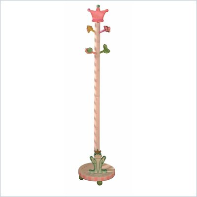 Teamson Kids Princess &amp; Frog Crown Hand Painted Standing Coat Rack