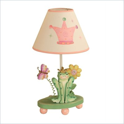 Teamson Kids Princess Frog Crown Table Lamp