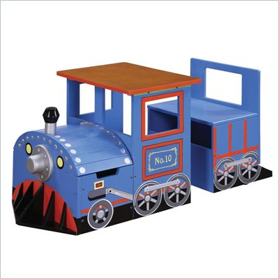 Teamson Kids Safari Hand Painted Train Writing Table