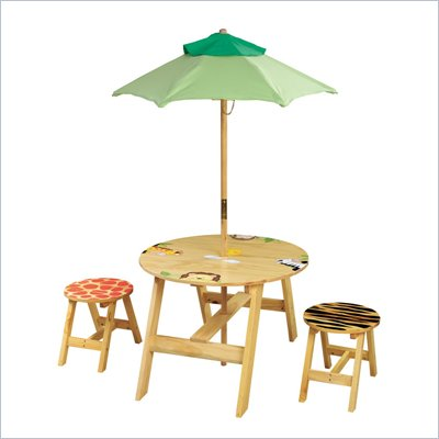 Teamson Kids Sunny Safari Outdoor Table and 2 Chairs Set