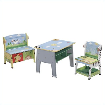 Teamson Kids Sunny Safari Hand Painted Table Set