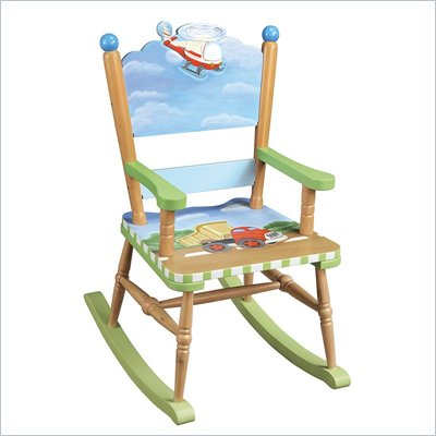 Teamson Kids Transportation Hand Painted Rocking Chair