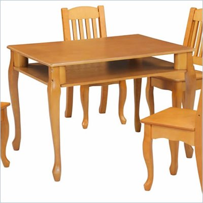 Teamson Kids Windsor Rectangular Hand Painted Kids Table and Chairs Set in Honey