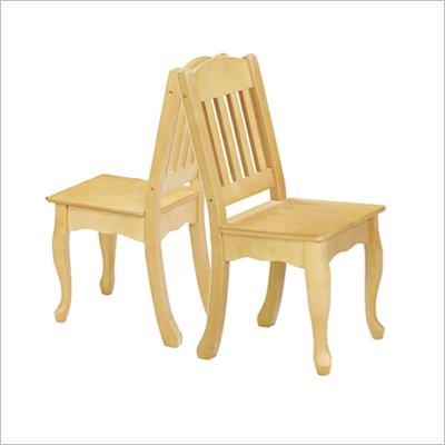 Teamson Kids Children's Windsor Chairs Set of 2  in Natural