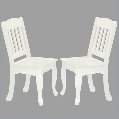 Teamson Design Kids Windsor Chairs in White (Set of 2)