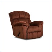 Simmons Upholstery Rocker Recliner in Victor Burgandy