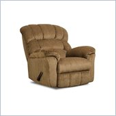 Simmons Upholstery Rocker Recliner Chair in Victor Amber