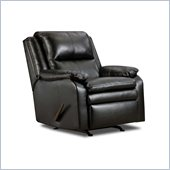 Simmons Upholstery Rocker Recliner Chair in Soho Bonded Leather Match Onyx
