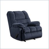 Simmons Upholstery Rocker Recliner Chair in Zig Zag Blue