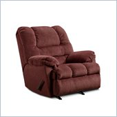Simmons Upolstery Rocker Recliner Chair in Zig Zag Wine