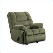 Simmons Upholstery Rocker Recliner Chair in Zig Zag Pewter
