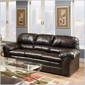 Simmons Upholstery Sofa in Riverside Bonded leather- Vintage