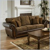 Simmons Upholstery Sofa in Zephyr Vintage/Aspen Tobacco/Avanti Tobacco Amori Mink