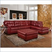 Simmons Upholstery Complete 2 piece sectional in Soho Bonded Leather 