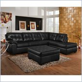 Simmons Upholstery Complete 2 piece sectional  in Soho Onyx Bonded Leather