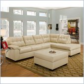 Simmons Upholstery Complete 2 piece sectional in Soho Natural Bonded Leather