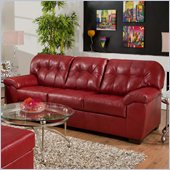 Simmons Upholstery Sofa in Soho Cardinal Bonded Leather