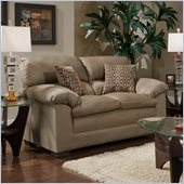 Simmons Upholstery Loveseat in Velocity Mineral / Nico Earth