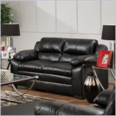 Simmons Upholstery Loveseat in Soho Bonded Leather Match Onyx