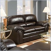 Simmons Upholstery Loveseat in Riverside Bonded leather - Vintage