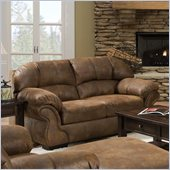 Simmons Upholstery Loveseat in Pinto Tobacco