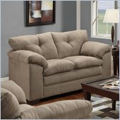 Simmons Upholstery Loveseat in Luna Mineral