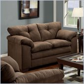 Simmons Upholstery Loveseat in Luna Chocolate