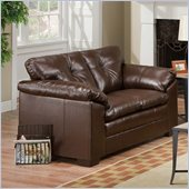 Simmons Upholstery Loveseat in Sebring Coffeebean