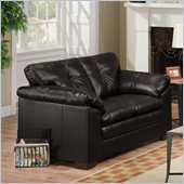 Simmons Upholstery Loveseat in Sebring Black