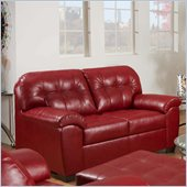Simmons Upholstery Loveseat in Soho Bonded Leather Match: Cardinal