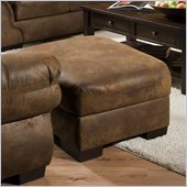 Simmons Upholstery Ottoman in Pinto Tobacco