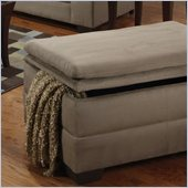 Simmons Upholstery Storage Ottoman in Luna Mineral