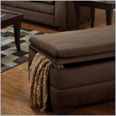 Simmons Upholstery Storage Ottoman in Luna Chocolate