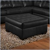 Simmons Upholstery Cocktail Ottoman in Soho Onyx Bonded Leather