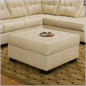 Simmons Upholstery Cocktail Ottoman in Soho Natural Bonded Leather