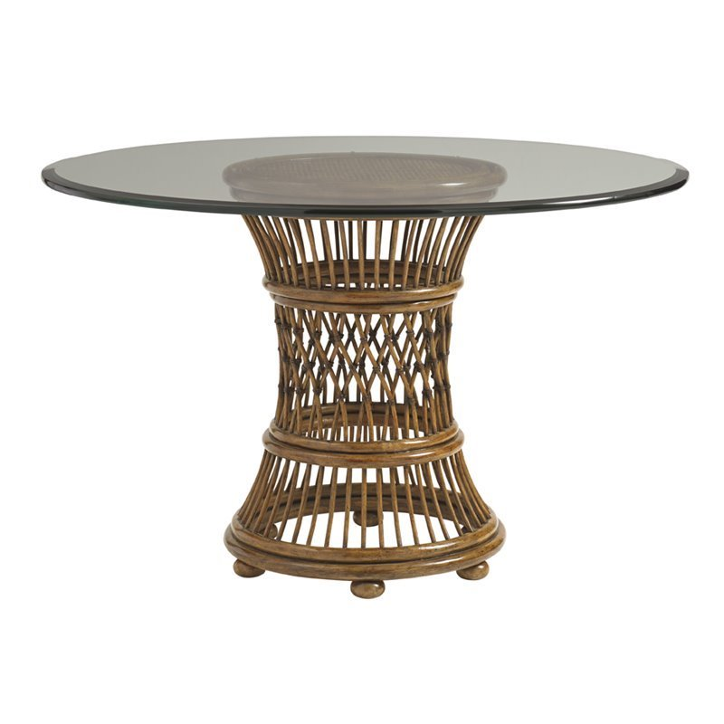 Tommy Bahama Bali Hai Arube 36 Round Dining Table in Warm Brown