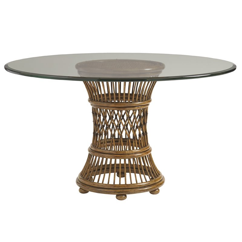 Tommy Bahama Bali Hai Arube 48 Round Dining Table in Warm Brown