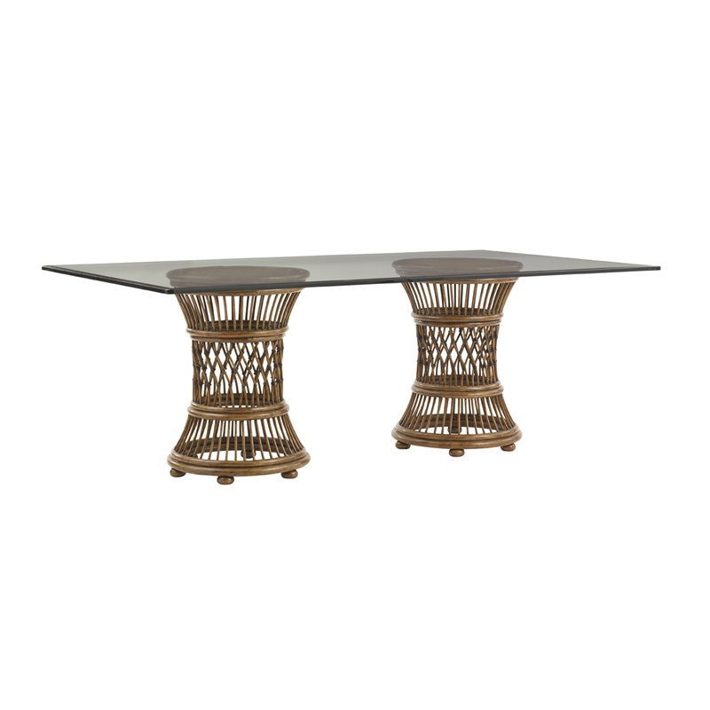 Tommy Bahama Bali Hai Arube Dining Table in Warm Brown