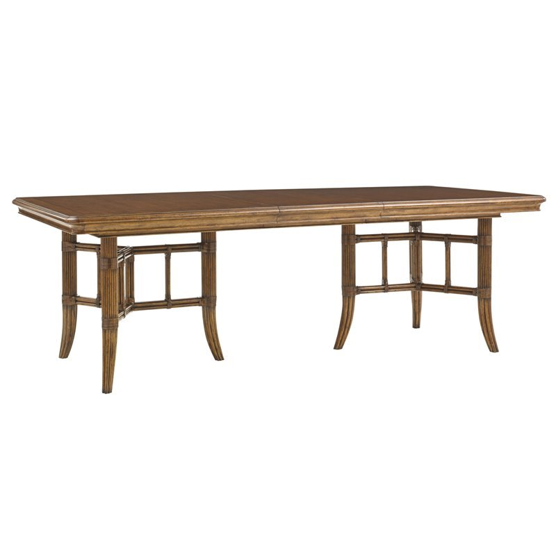 Tommy Bahama Bali Hai Fischer Island Dining Table in Warm Brown