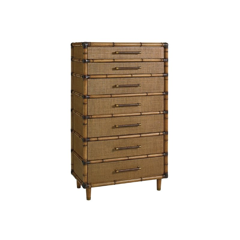 Tommy Bahama Twin Palms Bridgetown 7 Drawer Chest in Brown